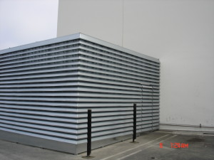 Exterior galvanized mechanical room