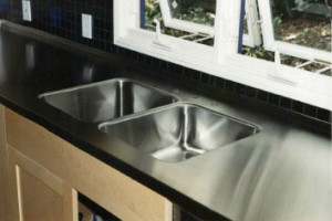 Welded sinks and stainless steel counters
